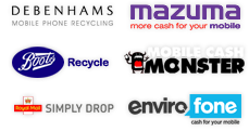Debenhams Mobile Phone Recycling - Mazuma - Boots Recycle - Mobile Cash Monster - Royal Mail Simply Drop - EnviroFone